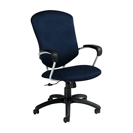 "Global® Supra Tilter Chair, High-Back, 42""H x 26""W x 27""D, Blue Bayou/Black"