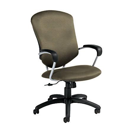 "Global® Supra Tilter Chair, High-Back, 42""H x 26""W x 27""D, Sandcastle/Black"