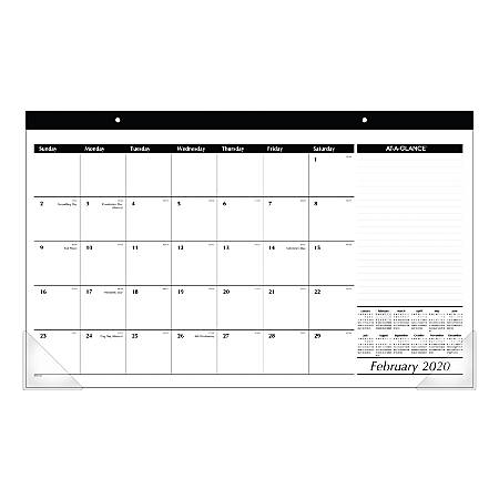 """AT-A-GLANCE® Compact Desk Pad, 18"""" x 11"""", January To December 2020, SK1400"""