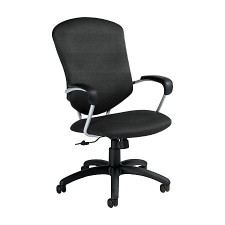 "Global® Supra Tilter Chair, High-Back, 42""H x 26""W x 27""D, Granite Rock/Black"