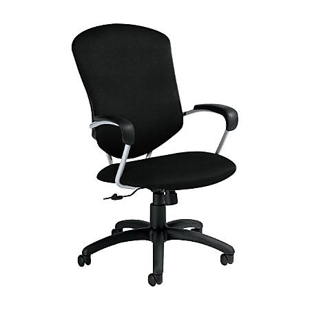 "Global® Supra Tilter Chair, High-Back, 42""H x 26""W x 27""D, Black Coal/Black"