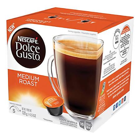 Nescafe Dolce Gusto Medium Roast Coffee Capsules Capsule - Compatible with Majesto Automatic Coffee Machine - Colombia, Brazilian, Ethiopian Blend, Jasmine, Toasty Spicy - Medium - 16 / Box