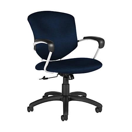 "Global® Supra Tilter Chair, Mid-Back, 39""H x 26""W x 26""D, Blue Bayou/Black"