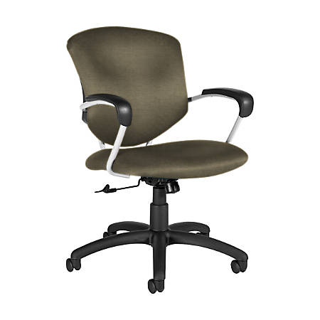 "Global® Supra Tilter Chair, Mid-Back, 39""H x 26""W x 26""D, Sandcastle/Black"