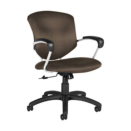 "Global® Supra Tilter Chair, Mid-Back, 39""H x 26""W x 26""D, Earth/Black"