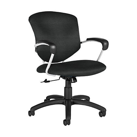 "Global® Supra Tilter Chair, Mid-Back, 39""H x 26""W x 26""D, Granite Rock/Black"