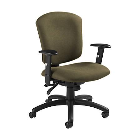 "Global® Supra X Mid-Back Multi-Tilter Chair, 38 1/2""H x 25 1/2""W x 23""D, Beach Day/Black"