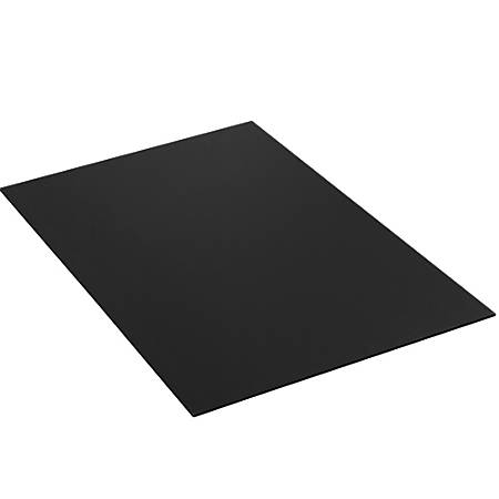 """Office Depot® Brand Plastic Corrugated Sheets, 48"""" x 48"""", Black, Pack Of 10"""