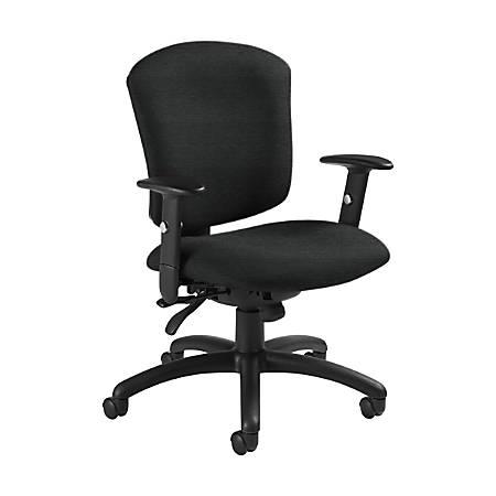 "Global® Supra X Mid-Back Multi-Tilter Chair, 38 1/2""H x 25 1/2""W x 23""D, Granite Rock/Black"