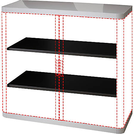 "Paperflow USA easyOffice 41"" Storage Cabinet, 3 Shelf, 43 5/16"" x 16 5/16"", Gray"