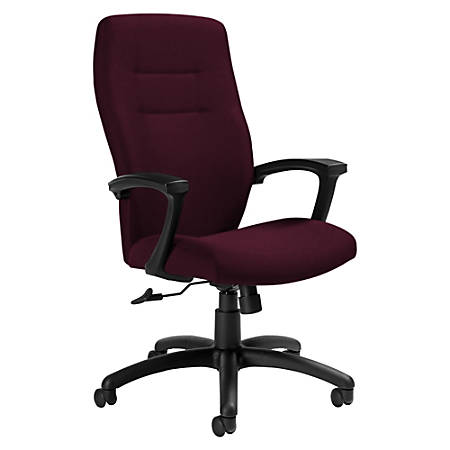 "Global® Synopsis Tilter Chair, High-Back, 43 1/2""H x 24 1/2""W x 26 1/2""D, Vermilion/Black"