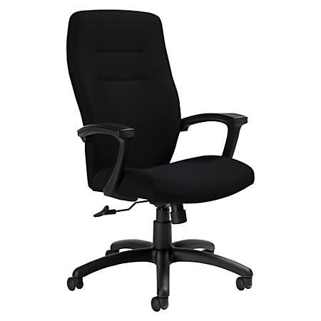 "Global® Synopsis Tilter Chair, High-Back, 43 1/2""H x 24 1/2""W x 26 1/2""D, Ebony/Black"