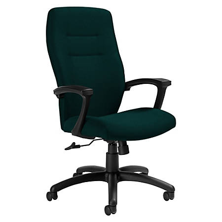 "Global® Synopsis Tilter Chair, High-Back, 43 1/2""H x 24 1/2""W x 26 1/2""D, Spruce/Black"