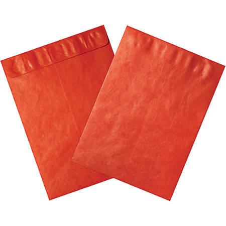 """Office Depot® Brand Tyvek® Envelopes, 9"""" x 12"""", Red, Pack Of 100"""