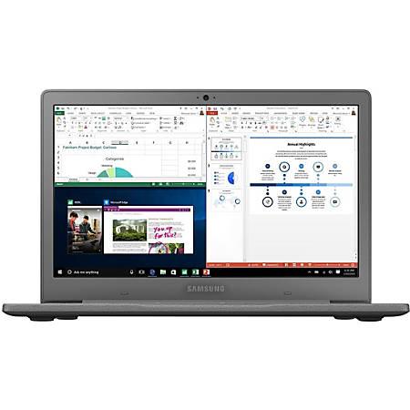 "Samsung Flash NP530XBB-K01US 13.3"" Notebook - 1920 x 1080 - Celeron N4000 - 4 GB RAM - 64 GB Flash Memory - Twill Charcoal - Windows 10 Home - Intel UHD Graphics 600 - Bluetooth"