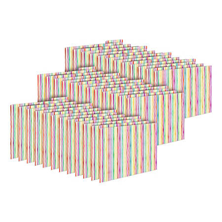 Barker Creek Tab File Folders, Letter Size, Stripes, Pack Of 36 Folders