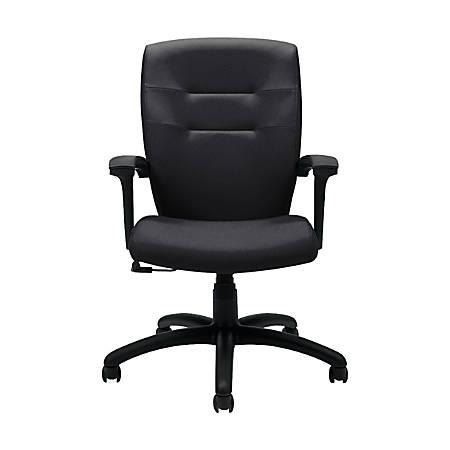 "Global® Synopsis Tilter Chair, Mid-Back, 39 1/2""H x 24 1/2""W x 26 1/2""D, Ebony/Black"