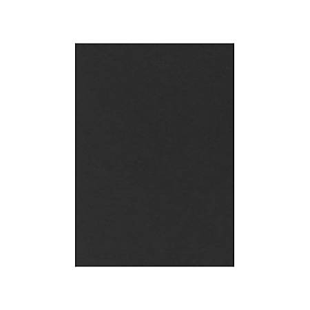 """LUX Flat Cards, A2, 4 1/4"""" x 5 1/2"""", Midnight Black, Pack Of 50"""