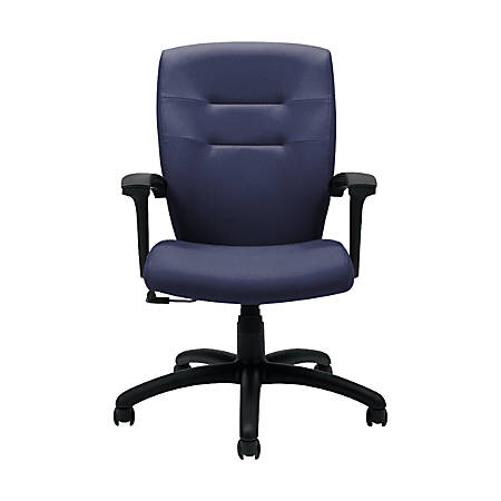 "Global® Synopsis Tilter Chair, Mid-Back, 39 1/2""H x 24 1/2""W x 26 1/2""D, Midnight/Black"