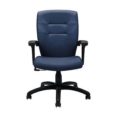 """Global® Synopsis Tilter Chair, Mid-Back, 39 1/2""""H x 24 1/2""""W x 26 1/2""""D, Admiral/Black"""
