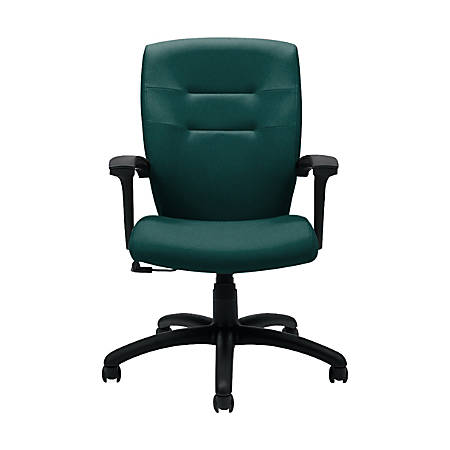 """Global® Synopsis Tilter Chair, Mid-Back, 39 1/2""""H x 24 1/2""""W x 26 1/2""""D, Spruce/Black"""