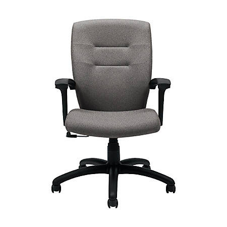 "Global® Synopsis Tilter Chair, Mid-Back, 39 1/2""H x 24 1/2""W x 26 1/2""D, Slate/Black"