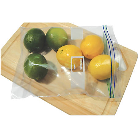 """Heritage Reclosable Food/Utility Bags - 2 gal - 13"""" Width x 15.60"""" Length x 1.75 mil (44 Micron) Thickness - Low Density - Clear - Resin - 100/Carton - Food"""