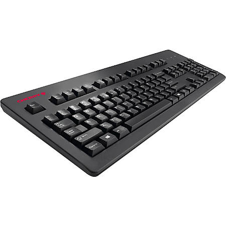 CHERRY G80-3494 MX Silent Keyboard - Cable Connectivity - USB 2.0 Interface - 104 Key - International, English (US) - Compatible with Computer (Mac, PC) - QWERTY Keys Layout - Mechanical - Black - TAA Compliant""