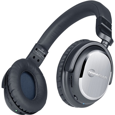 e74ce27b161 NoiseHush i9 Bluetooth® Wireless Active Headphones, Black, 13029. Use + and  - keys to zoom in and out, arrow keys move the zoomed portion of the image