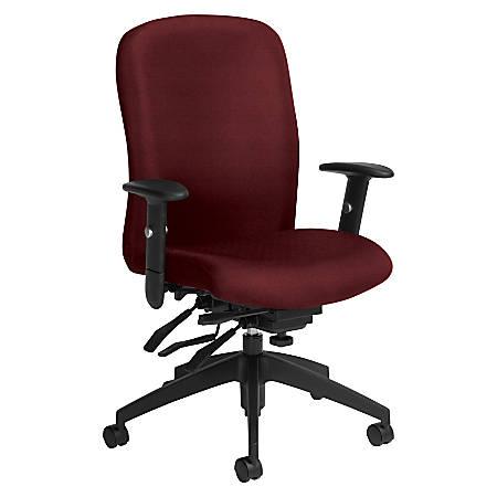 Global® Truform Multi-Tilter Chair, High-Back, Red Rose/Black