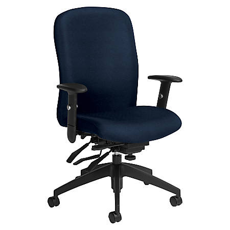 Global® Truform Multi-Tilter Chair, High-Back, Blue Bayou/Black
