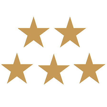 "Teacher Created Resources Gold Stars Foil Stickers, 1/2"", Gold, Pre-K - Grade 12, Pack Of 294"