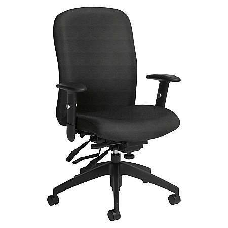 Global® Truform Multi-Tilter Chair, High-Back, Granite Rock/Black