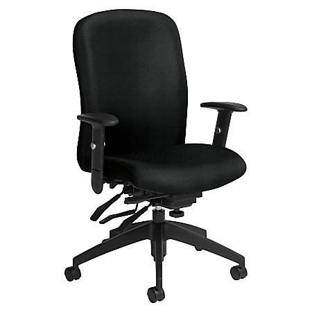 Global® Truform Multi-Tilter Chair, High-Back, Black Coal/Black
