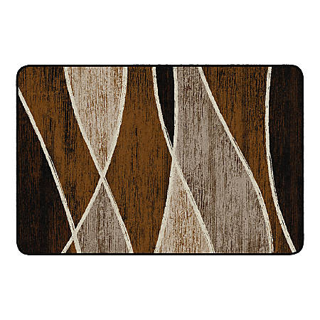 "Flagship Carpets Waterford Rectangular Area Rug, 48"" x 72"", Chocolate"