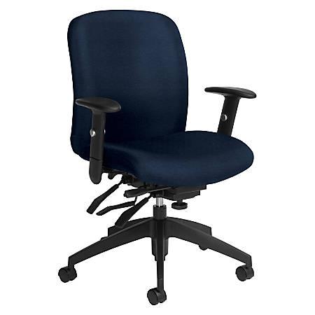 Global® Truform Multi-Tilter Chair, Mid-Back, Blue Bayou/Black