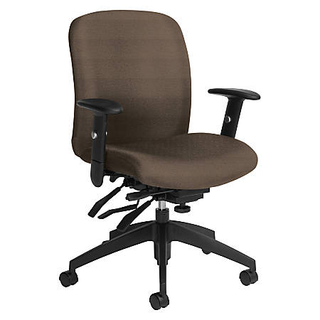 Global® Truform Multi-Tilter Chair, Mid-Back, Earth/Black