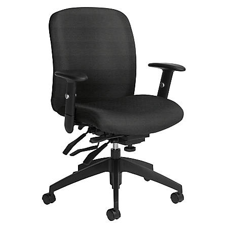 Global® Truform Multi-Tilter Chair, Mid-Back, Granite Rock/Black