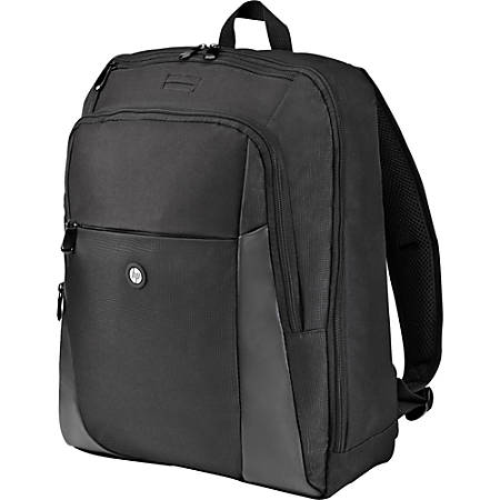 "HP Carrying Case (Backpack) for 15.6"" Notebook - Black - Foam Interior - Shoulder Strap - 16.5"" Height x 12.5"" Width x 5"" Depth"