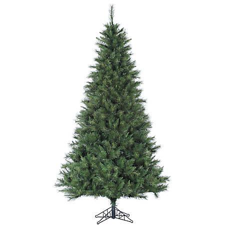 Canyon Pine Artificial Christmas Tree, 7 1/2', Green/Black