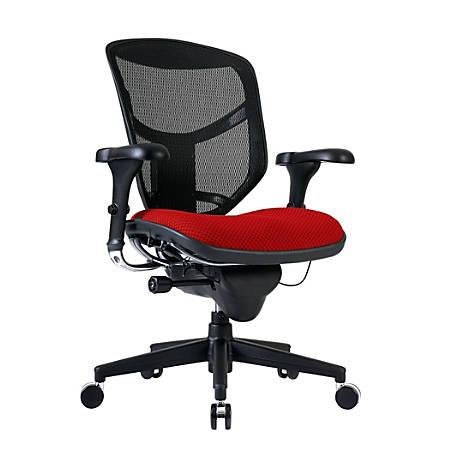 WorkPro® Quantum 9000 Series Ergonomic Mid-Back Mesh/Fabric Chair, Black/Cherry
