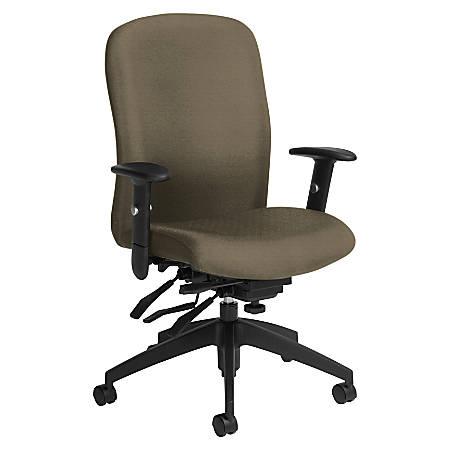 Global® Truform Multi-Tilter Chair, High-Back, Sandcastle/Black