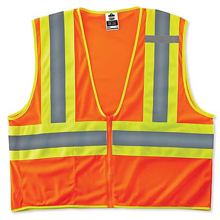 Ergodyne GloWear Safety Vest, Economy 2-Tone, Type-R Class 2, 4X/5X, Orange, 8229Z