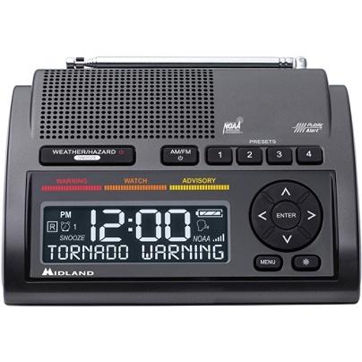 Midland NOAA Weather Hazard Emergency Alert Pocket or Purse Portable Radio Black