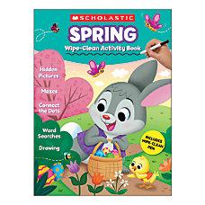 Scholastic Spring Wipe Clean Activity Book
