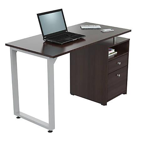 "Inval Writing Desk, 2 Drawers, 30""H x 47""W x 22""D, Espresso"