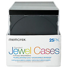 Memorex Standard Jewel Cases Black Pack