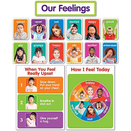 Scholastic Our Feelings Bulletin Board Set, Pre-K To 1st Grade