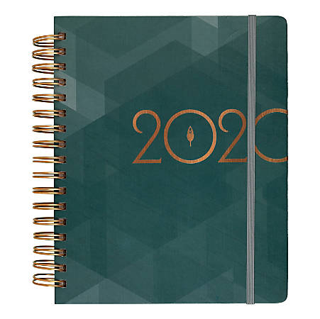 """inkWELL Press Classic liveWELL Weekly/Monthly Planner, 7"""" x 9"""", Teal, January To December 2020, IP640C-805"""