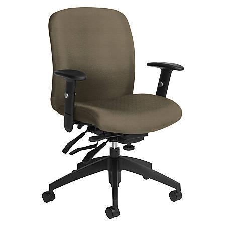 Global® Truform Multi-Tilter Chair, Mid-Back, Sandcastle/Black
